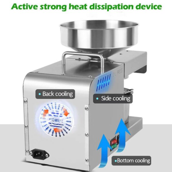 New Temperature Control Stainless Steel Automatic oil Press