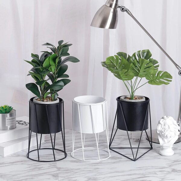 Flower Pot Indoor Balcony Desktop Planters Home Decoration Flower Stand