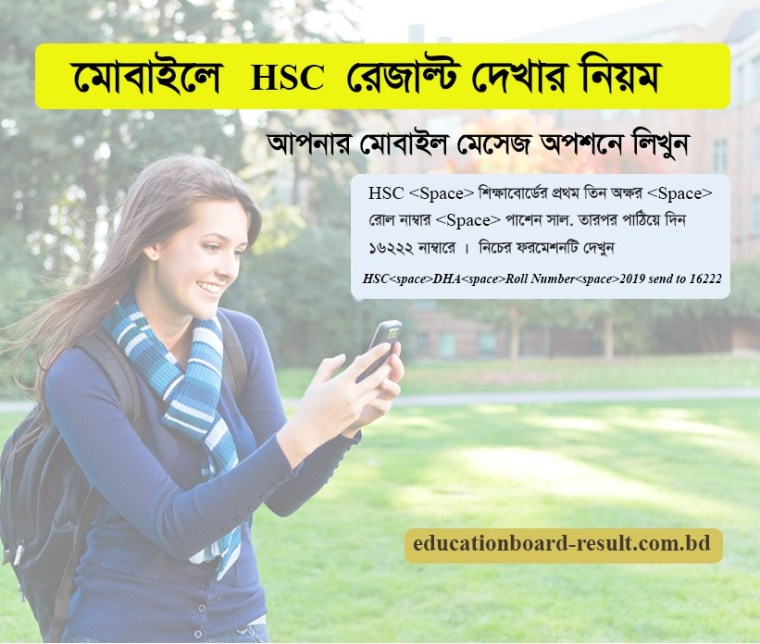 Check HSC Result 2019 Through SMS