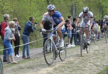 Team UnitedHealthcare at 2014 Paris - Roubaix 2014, Paris - Roubaix, Unitedhealthcare 2014, Arenberg