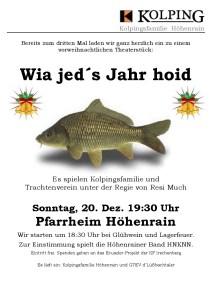 Plakat Adventstheater 2015