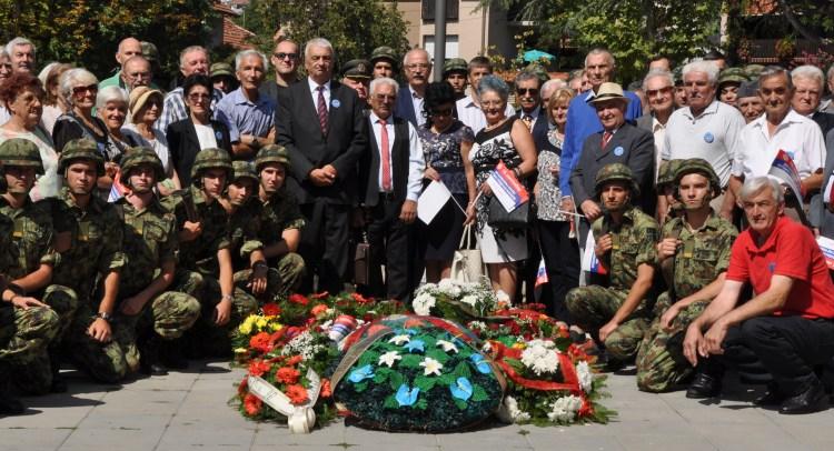 Sa polaganje venaca na partizanskom spomen groblju