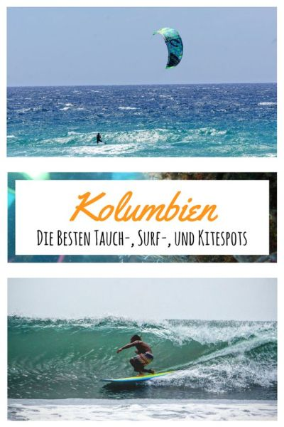 Surfen, Tauchen, Kiten in kolumbien