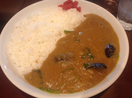 (8) Vegetable curry (600 yen) Photo by author.