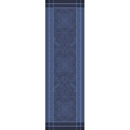 ガルニエ・ティエボー ペルシナ ダークブルー テーブルランナー