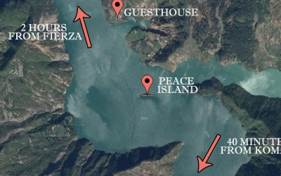 How to go to the Guesthouse from Koman or Fierze?
