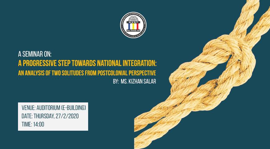 Seminar Progressive Step Towards National Integration