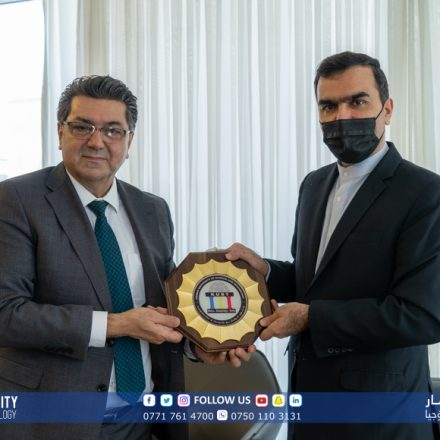 A delegation of IRI consulate in Sulaimani visiting KUST