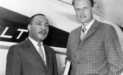 martin luther king and billy graham