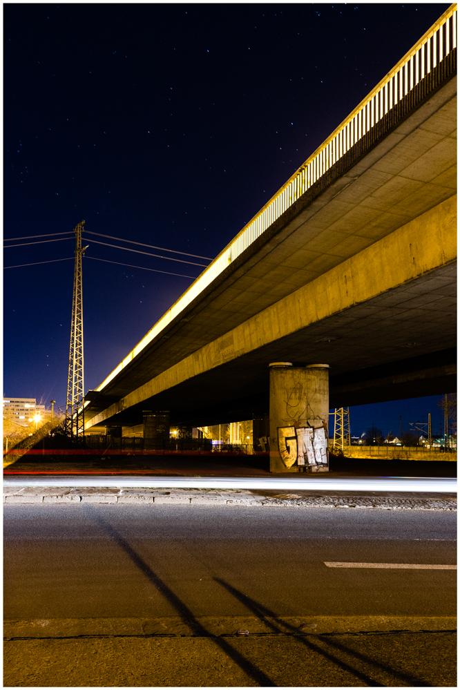 "Sven Jankowski ""Hochbrücke bei Nacht I"""
