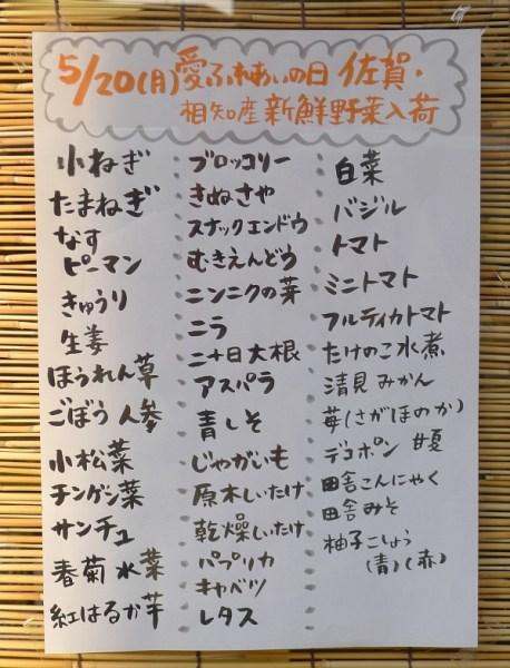 産直お野菜 2013年5月