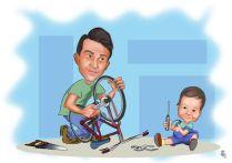 Baba-ogul-tamirat-karikaturu