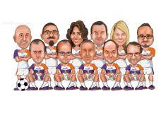 Ofis-futbol-takimi-grup-karikaturu