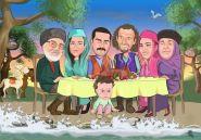 Aile-hatirasi-eski-zaman-karikaturu