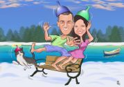 kar-ustunde-cilginlik-karikaturu