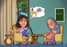 Babaanne-torun-karikaturu