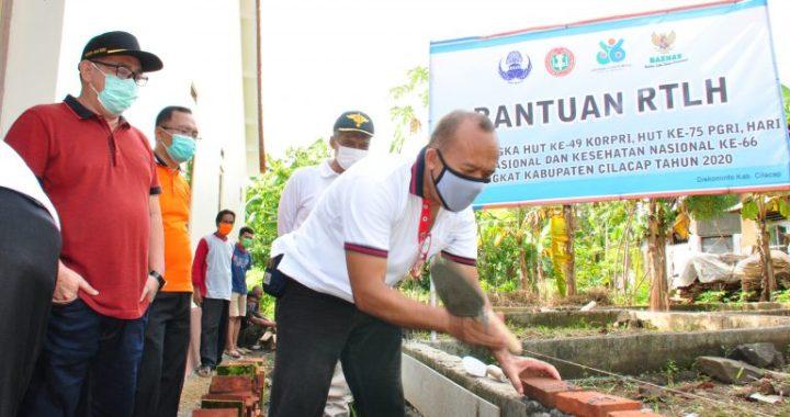 KORPRI dan BAZNAS Cilacap Rehab 70 Unit RTLH