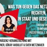 Podiumsdiskussion: Was tun gegen das Netzwerk von Rechten, Nazis, AfD in Staat und Gesellschaft?