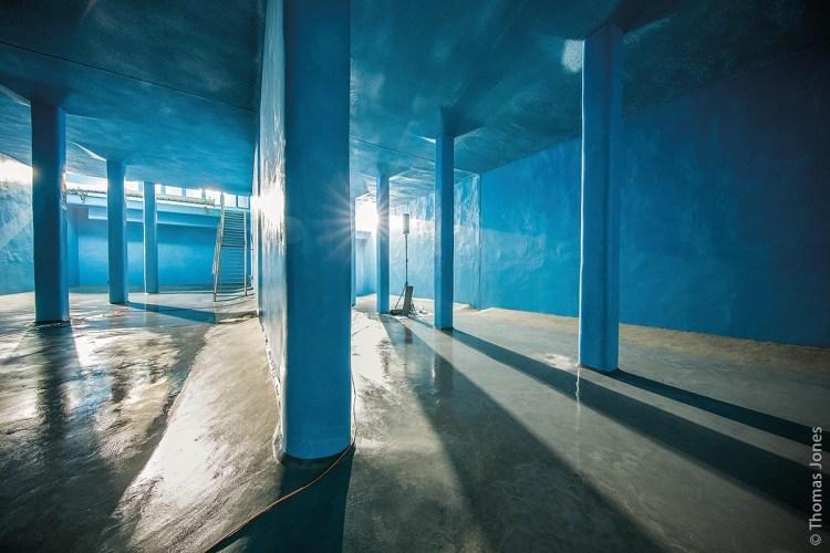 Der sanierte Hochbehälter mit einem gesamten Speichervolumen von 2.000 Kubikmetern wurde 1968 erbaut. Die Instandsetzung wurde im Oktober 2016 begonnen und nach Reinigung und Desinfektion mit der Wiederbefüllung im April 2017 abgeschlossen.