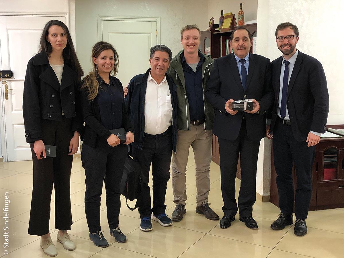 Eine Sindelfinger Delegation besuchte letzten April den algerischen Generalsekretär der Region Annaba (Zweiter von rechts).