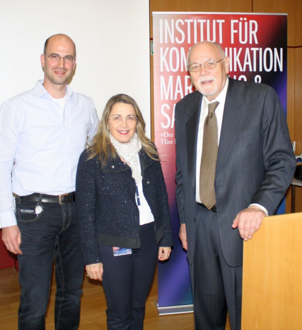 Don E. Schultz, Sieglinde Martin and Peter Dietrich, Vienna 2015