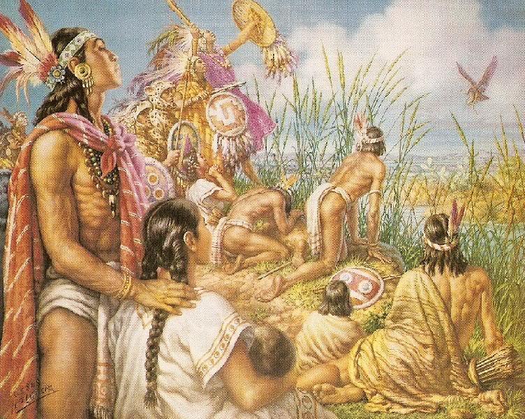 Los mexicas fundan Tenochtitlan