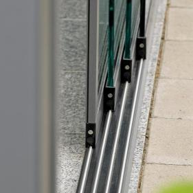 система реек стеклянные дверей S16