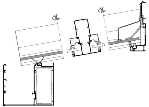Схема крепления для крыш террас и навесов