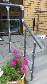 алюминиевые ограждения на террасе