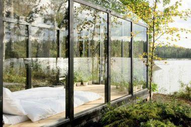 стеклянный дом с зимним садом