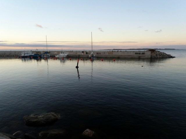 Beautiful calm evening in the Viinistu marina
