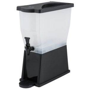 3 Gallon Black Slim Beverage / Juice Dispenser