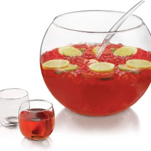 3.5 Gallon Glass Punch Bowl With Ladle