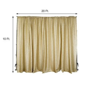 20FT x 10FT Metallic Spandex Glittering Backdrop