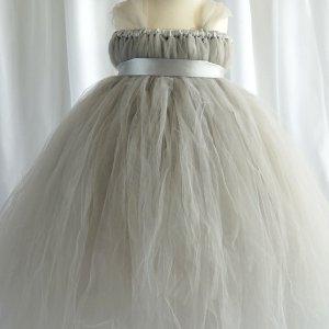 Empyrean Silver Tulle Floor Length Dress