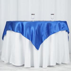 60″x 60″ Seamless Satin Square Tablecloth Overlay