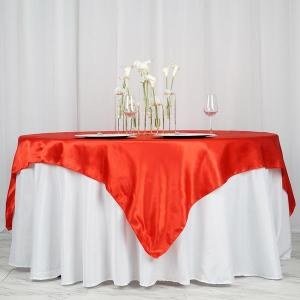 72″ x 72″ Seamless Satin Square Tablecloth Overlay
