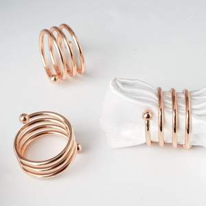 Aluminium Spiral Napkin Rings