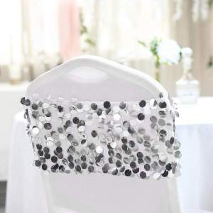 Big Payette Sequin Round Chair Sash