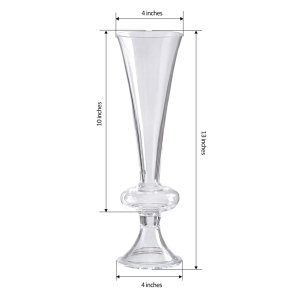 13″ Reversible Crystal Ball Trumpet Glass Vase
