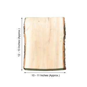 13″x11″ | Rustic Natural Wood Slice