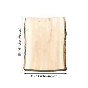 16″x13″ | Rustic Natural Wood Slice