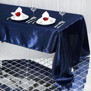 60×126″ Satin Rectangular Tablecloth