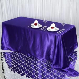 90×132″ Satin Rectangular Tablecloth
