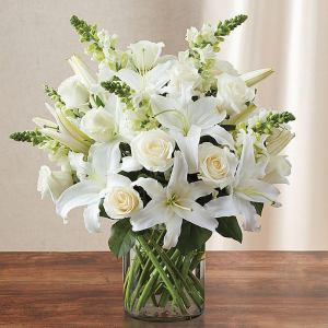 Classic All White Sympathy Bouquet