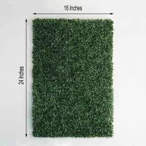 Artificial Boxwood Hedge Small Leaves Faux Foliage Green Garden Wall Mat