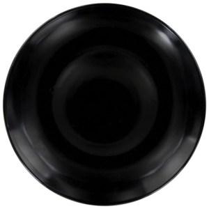10.5 in. Classic Black Stoneware Dinner Plate