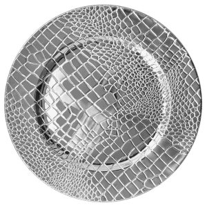 13″ Croc Polypropylene Electroplated Charger Plate