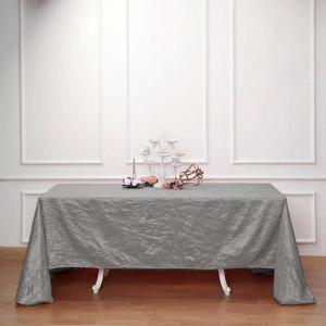 90×156″ Crinkle Crushed Taffeta Rectangular Tablecloth