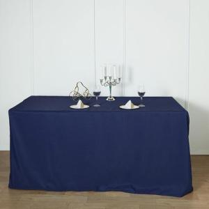 6FT Fitted Polyester Rectangular Table Cover